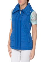 Anna Rose Ruched Collar Gilet Blue - Gallery Image 2