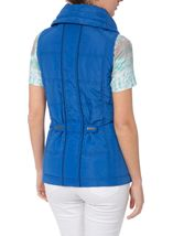 Anna Rose Ruched Collar Gilet Blue - Gallery Image 3