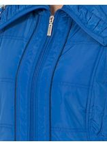 Anna Rose Ruched Collar Gilet Blue - Gallery Image 4