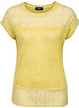 Lace Trim Top Lime - Gallery Image 1
