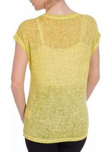 Lace Trim Top Lime - Gallery Image 3