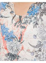 Anna Rose Burn Out Print Top Cobalt/Raspberry - Gallery Image 4