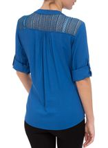 Anna Rose Turn Sleeve Top Cobalt - Gallery Image 3
