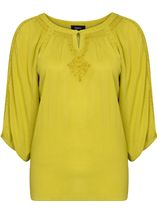 Boho Dream Top Lime - Gallery Image 1