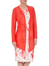 Anna Rose Long Sleeve Open Cover Up Coral Rose - Gallery Image 1