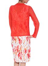 Anna Rose Long Sleeve Open Cover Up Coral Rose - Gallery Image 2