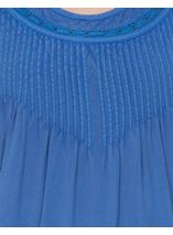 Anna Rose Short Sleeve Washed Top Cobalt - Gallery Image 3