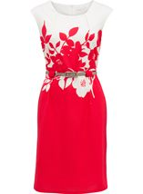 Anna Rose Ottoman Dress Coral - Gallery Image 1