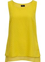 Sleeveless Textured Chiffon Top Lime - Gallery Image 1