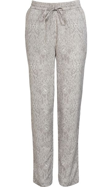 Anna Rose Tapered Elasticated Waist Printed Trousers Grey/White