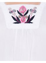 Anna Rose Embroidered Short Sleeve Top White - Gallery Image 4