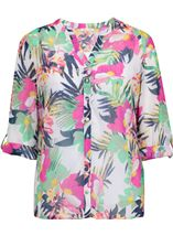 Anna Rose Floral Chiffon Blouse Jungle - Gallery Image 1