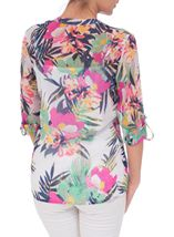 Anna Rose Floral Chiffon Blouse Jungle - Gallery Image 3