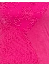 Anna Rose Layered Lace Trim Top Bubblegum - Gallery Image 4