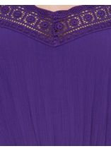 Cold Shoulder Lace Trim Tunic Purple - Gallery Image 4