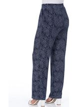Anna Rose Floral Print Trousers Navy/White - Gallery Image 3