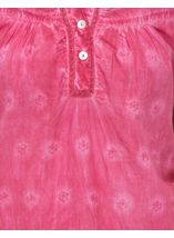 Anna Rose Sleeveless Embroidered Cotton Top Bubblegum - Gallery Image 4