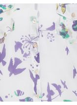 Anna Rose Printed Cotton Blouse Green/Lavender - Gallery Image 4