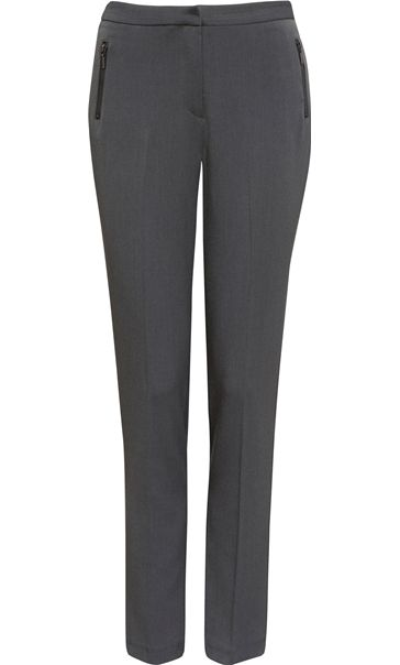 Narrow Leg Stretch Trousers Grey
