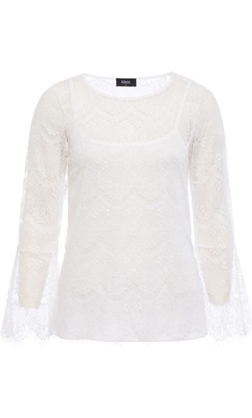 Bell Sleeve Lace Top Ivory