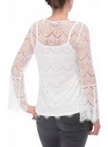 Bell Sleeve Lace Top Ivory - Gallery Image 3