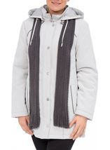 Anna Rose Scarf Coat Silver - Gallery Image 1