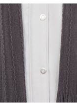 Anna Rose Scarf Coat Silver - Gallery Image 3
