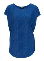 Short Sleeve Embellished Top Blue - Gallery Image 1