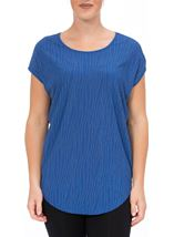 Short Sleeve Embellished Top Blue - Gallery Image 2