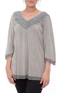 Lace Trim Washed Top