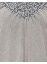 Lace Trim Washed Top Light Grey - Gallery Image 4