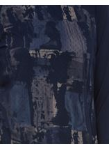 Printed Jersey Mesh Layer Top Navy - Gallery Image 4