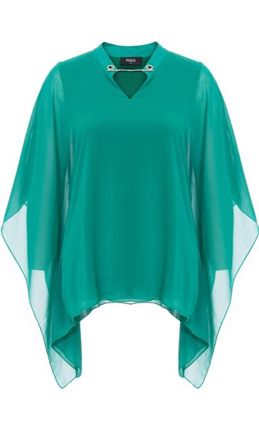 Chiffon Layered Top Emerald