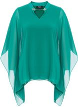 Chiffon Layered Top Emerald - Gallery Image 1