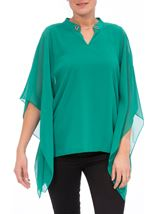 Chiffon Layered Top Emerald - Gallery Image 2