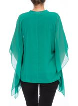Chiffon Layered Top Emerald - Gallery Image 3