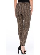 Printed Narrow Leg Trousers Black/Gold - Gallery Image 3