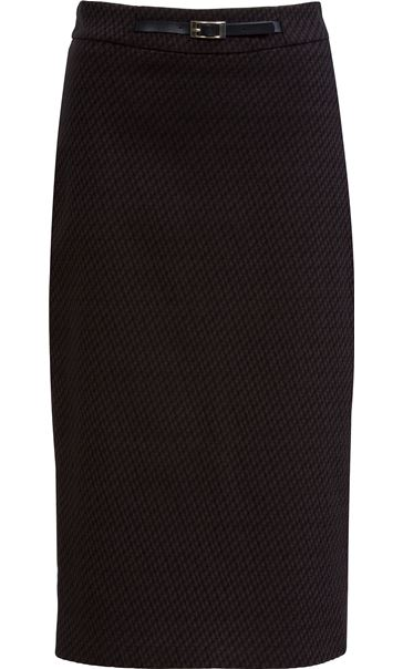 Midi Pencil Skirt Black