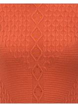 Anna Rose Cable Detail Knit Top Sunset - Gallery Image 4