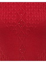 Anna Rose Cable Detail Knit Top Ruby - Gallery Image 4