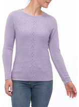 Anna Rose Cable Detail Knit Top Lilac - Gallery Image 2