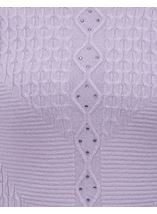 Anna Rose Cable Detail Knit Top Lilac - Gallery Image 4