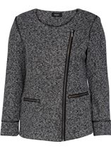 Unlined Biker Jacket Grey - Gallery Image 1