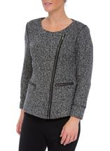 Unlined Biker Jacket Grey - Gallery Image 2