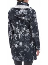 Floral Printed Lightweight Coat Black Floral - Gallery Image 3