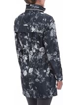 Floral Printed Lightweight Coat Black Floral - Gallery Image 4