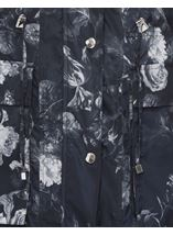 Floral Printed Lightweight Coat Black Floral - Gallery Image 5