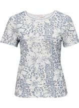 Anna Rose Printed Short Sleeve Top Navy/White - Gallery Image 1