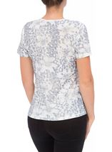 Anna Rose Printed Short Sleeve Top Navy/White - Gallery Image 3