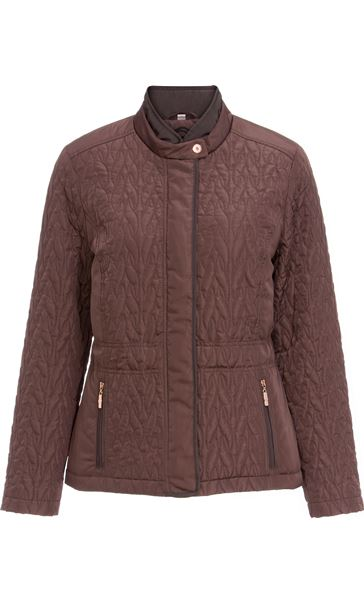 Anna Rose Short Quilted Jacket Copper